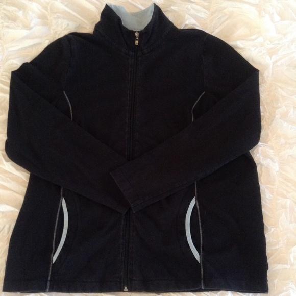 Black Jacket W/ Light Blue Trim